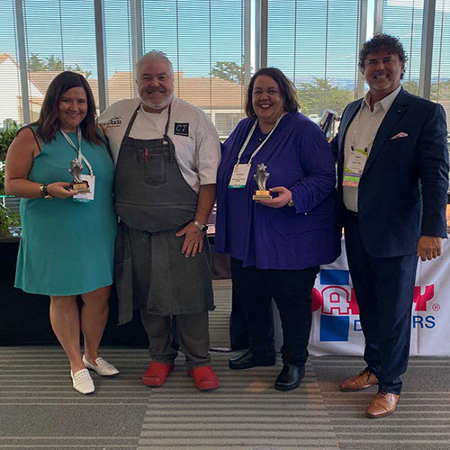 The Duda Farm Fresh Foods' team wracked up quite a few awards at this year's PMA Foodservice, including the Produce Plate Award and the People's Choice Award at the Strolling Lunch Competition (image credit PMA)