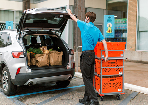 Powered by Ocado Group plc's proven in-store fulfilment technology, this curbside pickup service model allows customers to shop online or via mobile app from a growing selection of products