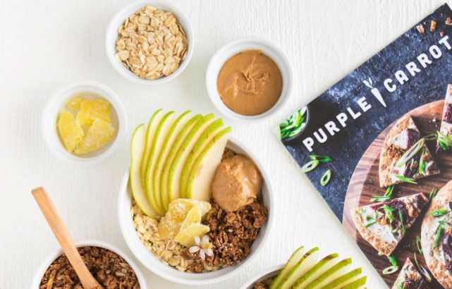 Purple Carrot launched in October 2014 and the company follows the typical meal kit model, but with a plant-based twist