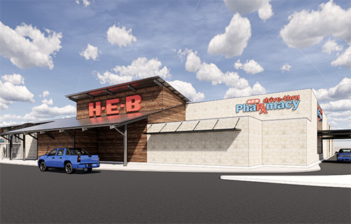 H-E-B has begun construction on a new store to replace one of its older locations