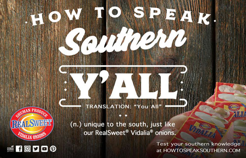 Participants were invited to test their knowledge in Shuman's How to Speak Southern Campaign 2.0