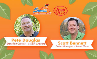Pete Douglas and Jewel Osco's Scott Bennett Discuss Stemilt Growers' Peaches and Nectarines