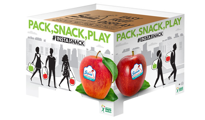 Stemilt has introduced a set of EZ pallet displays in October to help retailers promote both conventional and organic apples