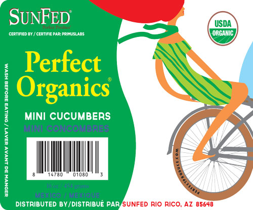 SunFed Perfect Organics mini cucumbers