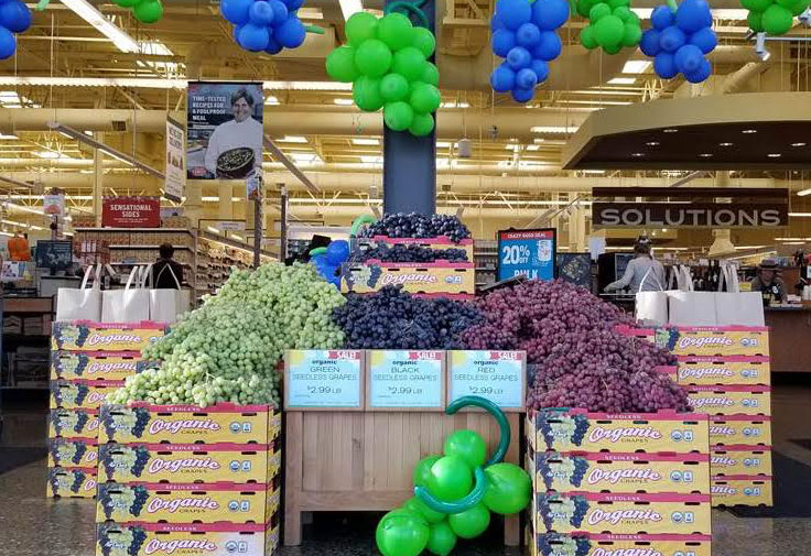 Sun Pacific® and New Season Market—the 14-store, Portland-based natural foods chain—recently paired up to hold a merchandising sales contest using Air Chief® organic grapes