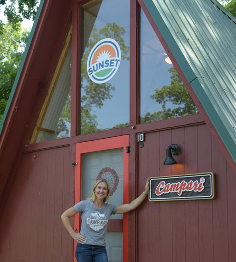 SUNSET® Project Coordinator, Melanie Mastronardi, at SUNSET® CAMP-ARI
