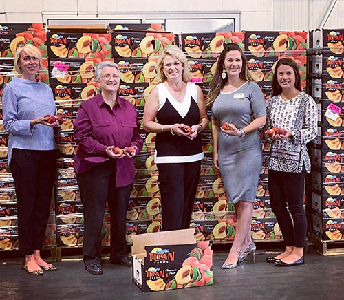 Over the past five years, the Peaches with a Purpose program has donated 219,000 lbs of peaches