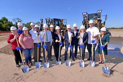The Greenyard and UNIVEG Logistics America team break ground on new facility