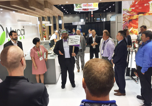 John Toner leading the retail and foodservice operator tour at United Fresh 2017