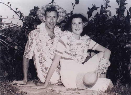 David and Jean on their honeymoon