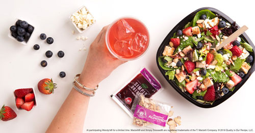 Wendy's New Berry Burst Chicken Salad