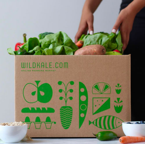 Fresh produce delivered using WildKale