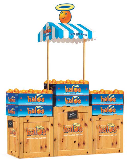 Wonderful Halos' latest campaign includes a new high-graphic Halos fruit stand display