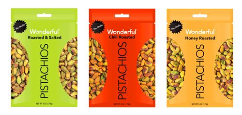 The Wonderful Company is expanding its Wonderful Pistachios line with new No Shell flavors—Honey Roasted and Chili Roasted